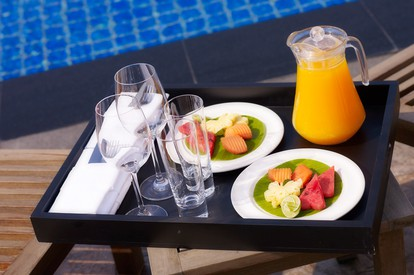Breakfast at the pool